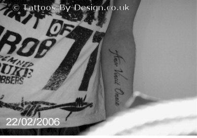 amor vincit omnia tattoo. Black Bedroom Furniture Sets. Home Design Ideas