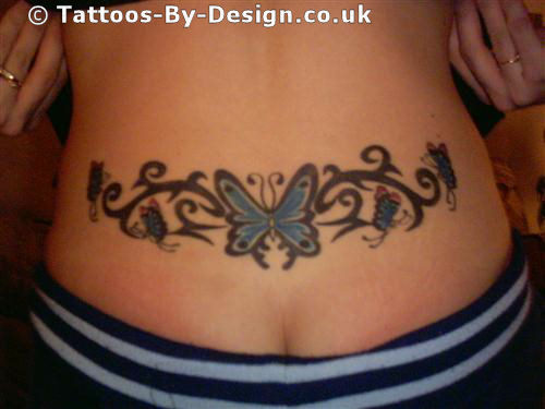 butterfly lower back tattoo. Black Bedroom Furniture Sets. Home Design Ideas
