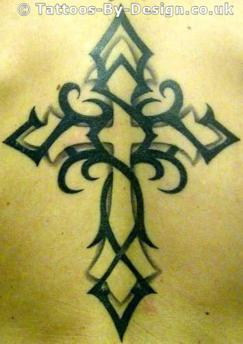 Cross Tattoos With Tribal