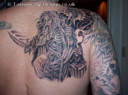 Evil wizard tattoo for Wizard tattoo designs