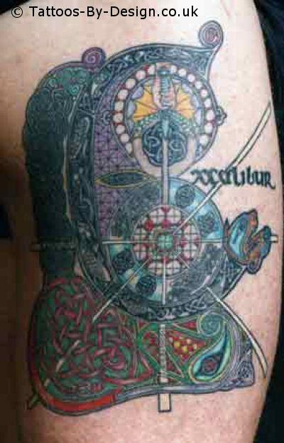 top excalibur sword tattoo images for pinterest tattoos. Black Bedroom Furniture Sets. Home Design Ideas