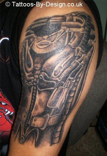 Gieger Tattoos Designs: HR Giger Biomechanoid Tattoo
