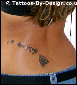 hawaiian islands tattoo