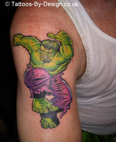 incredible hulk tattoo. Black Bedroom Furniture Sets. Home Design Ideas