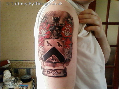 english coat of arms tattoo - photo #5