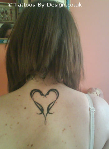 Kobra love heart Tattoo