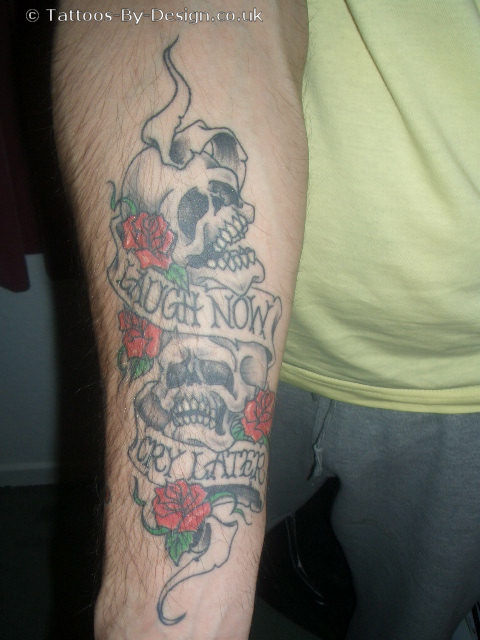 Smile now cry later quotes tattoos
