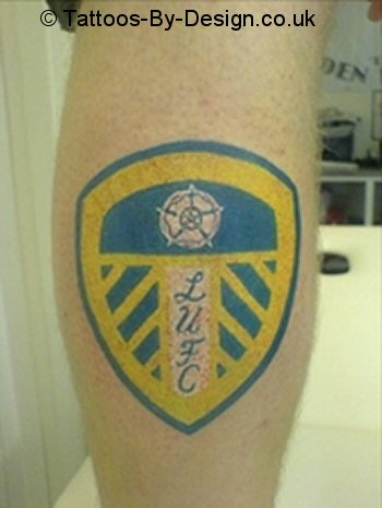 leeds united badge tattoo