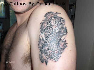 pisces tattoo on arm tattoo picture with black color and fullcolor