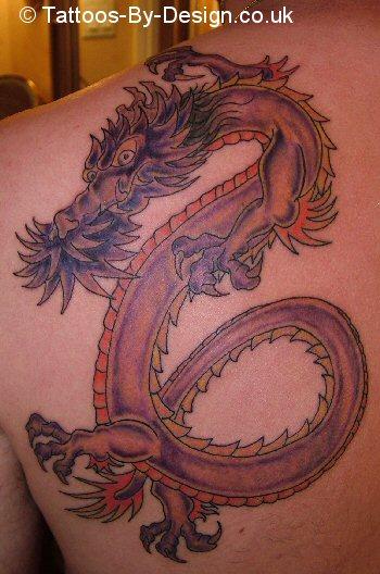 purple japanese dragon tattoo. Black Bedroom Furniture Sets. Home Design Ideas