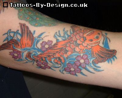 Small koi fish tattoo for Small koi fish