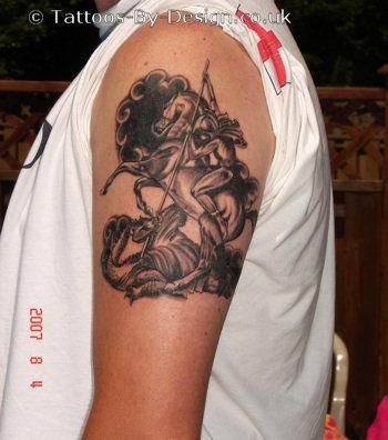 St george dragon tattoo for St george tattoo