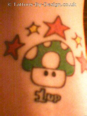 Super Mario Mushroom Tattoo
