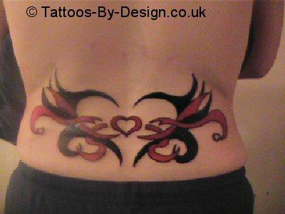 tribal heart lower back tattoo. Black Bedroom Furniture Sets. Home Design Ideas