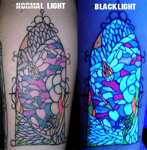 UV Reactive Blacklight Stained-glass Window