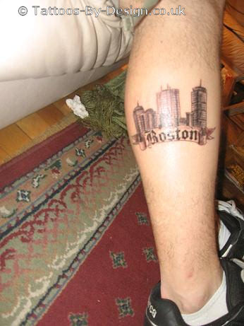 boston skyline tattoo