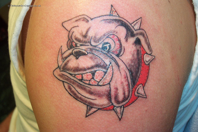 georgia bulldog tattoo. Black Bedroom Furniture Sets. Home Design Ideas