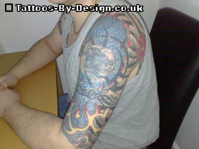 Tribal sleeve tattoos simply means tattoo designs that cover the whole