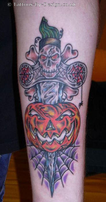 Tattoo of jack-... Evil Jack O Lantern Tattoo