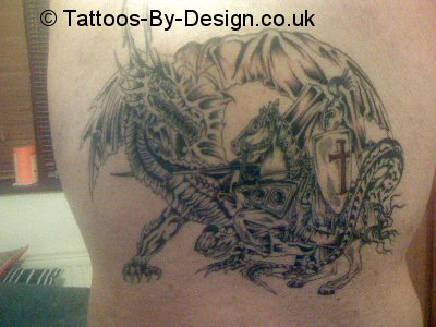 St george and the dragon tattoo for St george tattoo