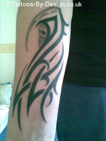 tribal reaper Tattoo