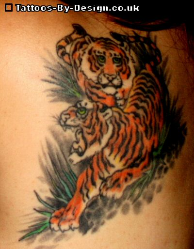 year of the tiger tattoo. Black Bedroom Furniture Sets. Home Design Ideas